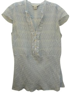 Banana Republic Sheer Top Blue and White