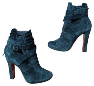a1ad517cf80a Blue Christian Louboutin Boots   Booties - Up to 90% off at Tradesy