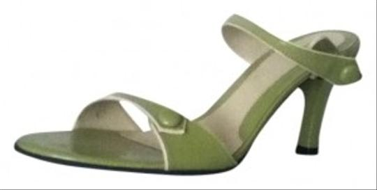 Franco Sarto #sandal #strappy #buttons Green Sandals