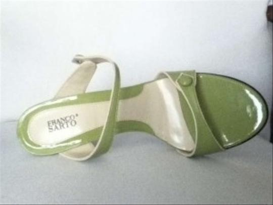 Franco Sarto #strappy #buttons Green Sandals