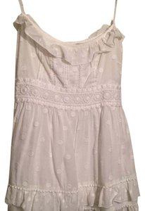 Juicy Couture Lace Cami Babydoll Top White
