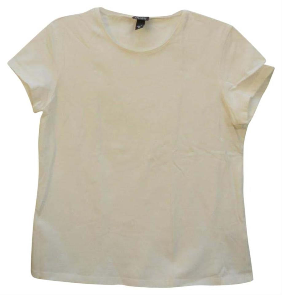 Eileen fisher crew neck tee t shirt white for Crew neck white t shirt