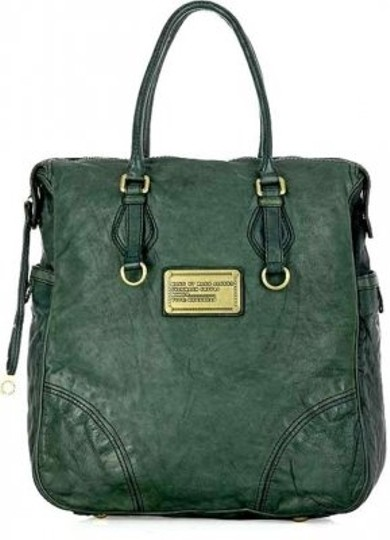 Marc by Marc Jacobs Leather Tote in forest green