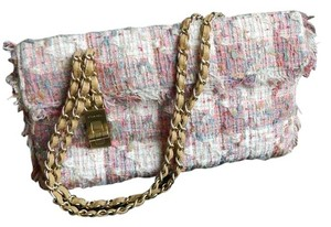 Chanel Tweed Chain Shoulder Bag