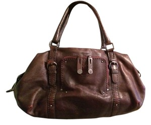 Antonio Melani Satchel in Plum