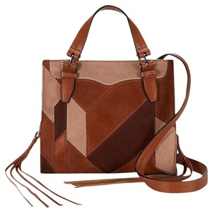 Rebecca Minkoff Blair Leather New With Tags Brown Suede Tote in Almond Multi