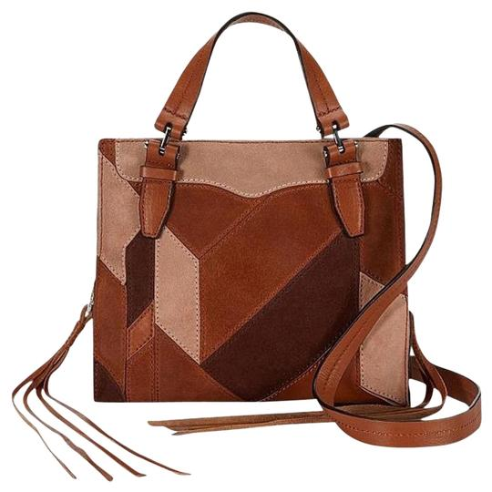 Rebecca Minkoff Blair Leather New With Tags Brown Suede Tote in Almond Multi Image 0