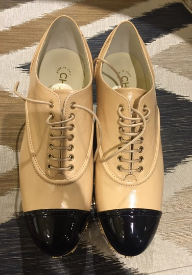 Chanel Beige Black Platforms Image 1