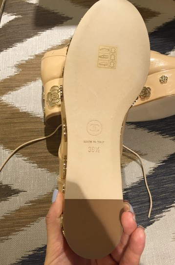 Chanel Beige Black Platforms Image 3