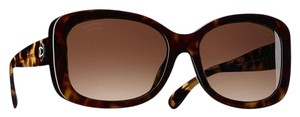 Chanel Tortoise Oversized Square Eyed Sunglasses