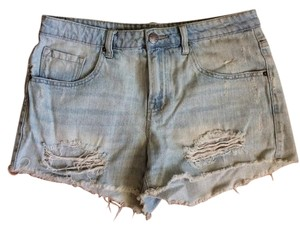Urban Outfitters Festival Vintage Cut Off Shorts Blue