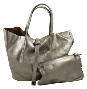 Tiffany & Co. Suede Metallic Leather Tote in Gold