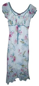3bc08d2563a MULTI COLOR Maxi Dress by Xtraordinary Cap Sleeves Layered Length Floral  White 5 Juniors