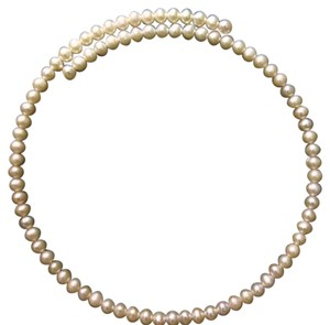 Genuine pearl choker necklace