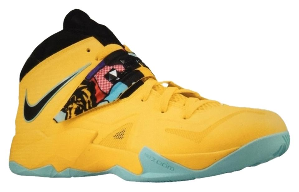 new product 19c3b 7134f Nike Yellow Black Green Men's Zoom Soldier Vii