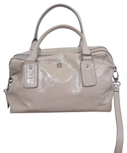 Lodis Leather Patent Leather Wallet Satchel in KHAKI
