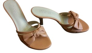 Franco Sarto Leather Papaya Sandals