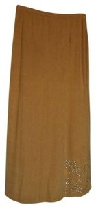 Kathie Lee Collection Maxi Skirt Tan