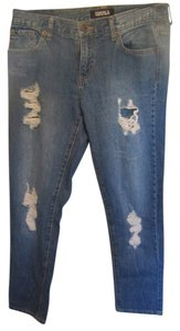 Forever 21 Straight Leg Jeans-Distressed