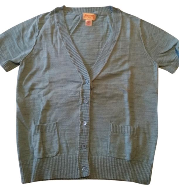 Mossimo Supply Co. Short Sleeve Sweater Button Up Blue Green Cardigan