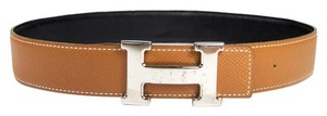 Hermès Hermes Reversible H Belt in Black and Brown