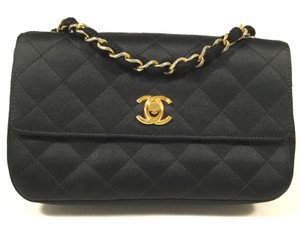 Chanel Classic Quilted Satin Shoulder Bag