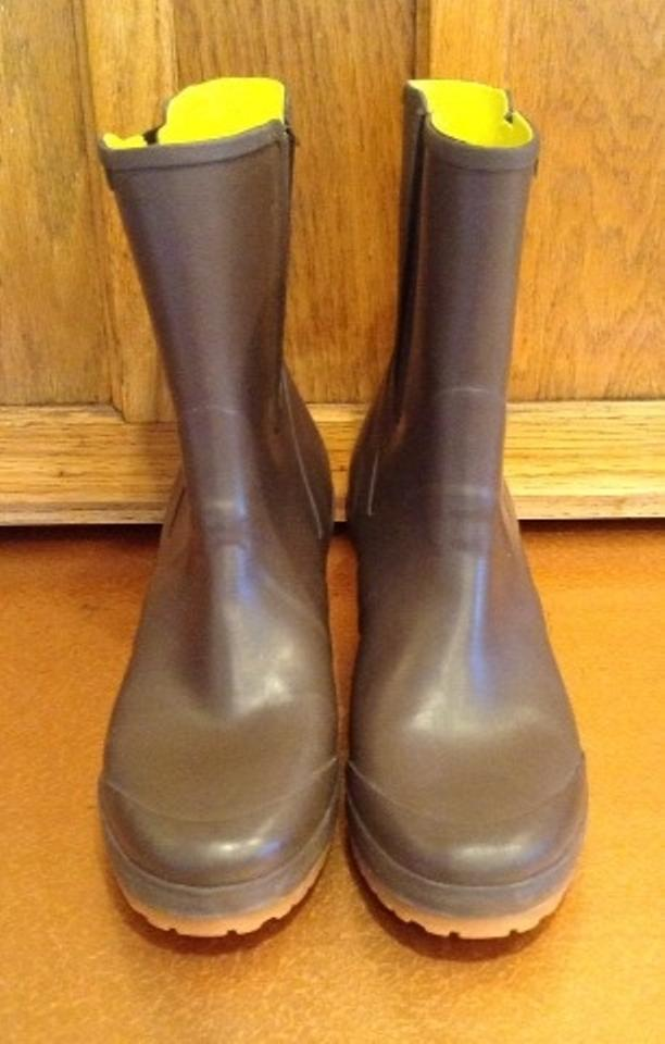 937b1f4b01d2 Tretorn Brown Wedge Rain Boots Booties Size US 8 Regular (M