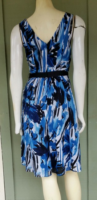 The Limited short dress Blue Cotton Attached Belt on Tradesy