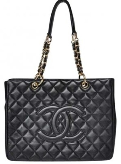 Preload https://item5.tradesy.com/images/chanel-quilted-shopper-black-leather-tote-162644-0-0.jpg?width=440&height=440