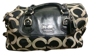 Coach Satchel in Black and grey