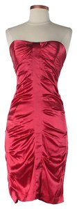Nicole Miller Silk Strapless Gathered Dress