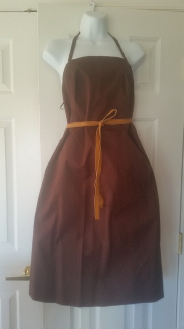 Barneys New York short dress Brown on Tradesy