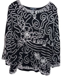 Saint Tropez West Dressy Embroidery Size 2x Soft Comfortable 3/4 Sleeves Tunic