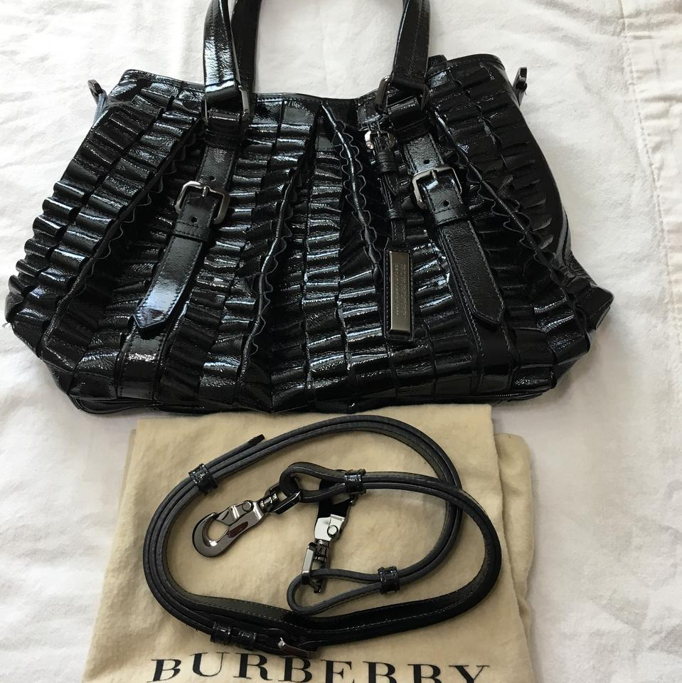 364a06ba1f Burberry Prorsum Lowry Ribbon Ruched Itrea12sca Black Patent Leather ...