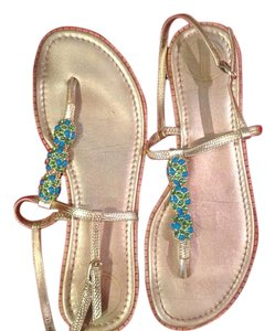 Lilly Pulitzer Bejeweled:Gold/Blue/Green Sandals