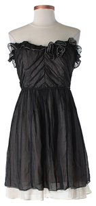 Plenty by Tracy Reese Silk Strapless Ruffle Dress