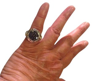 John Hardy John Hardy, size 8.5 - 8.75, black sapphire, .925 sterling silver, fashion, statement, designer, from the Kali Collection ring