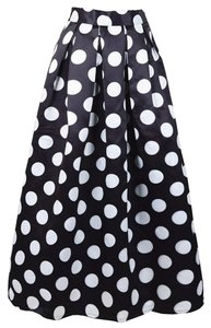 Boutique 9 Skater Maxi Skirt polka dot