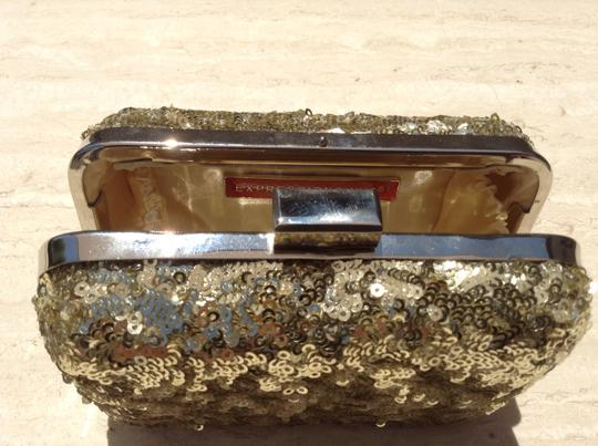 Expressions Chain Metallic Embellished Gold Clutch Image 2