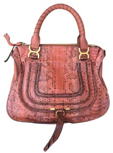 Chloé Marcie Medium Marcie Python Snakeskin Satchel in Leather