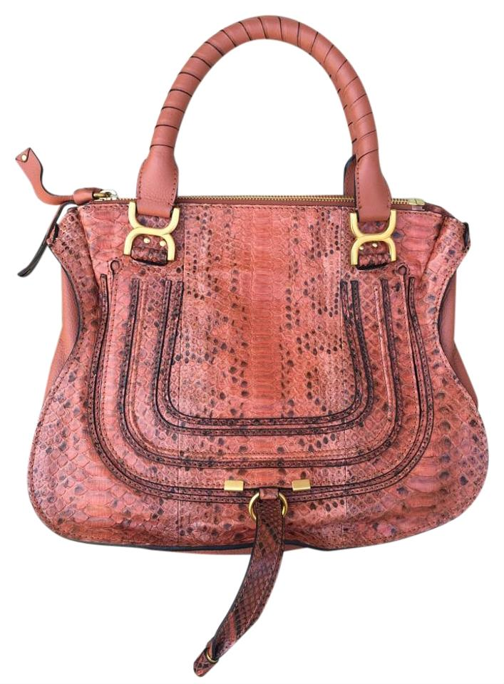 93011406dc8f Chloé Marcie Medium Marcie Python Snakeskin Satchel in Leather Image 0 ...