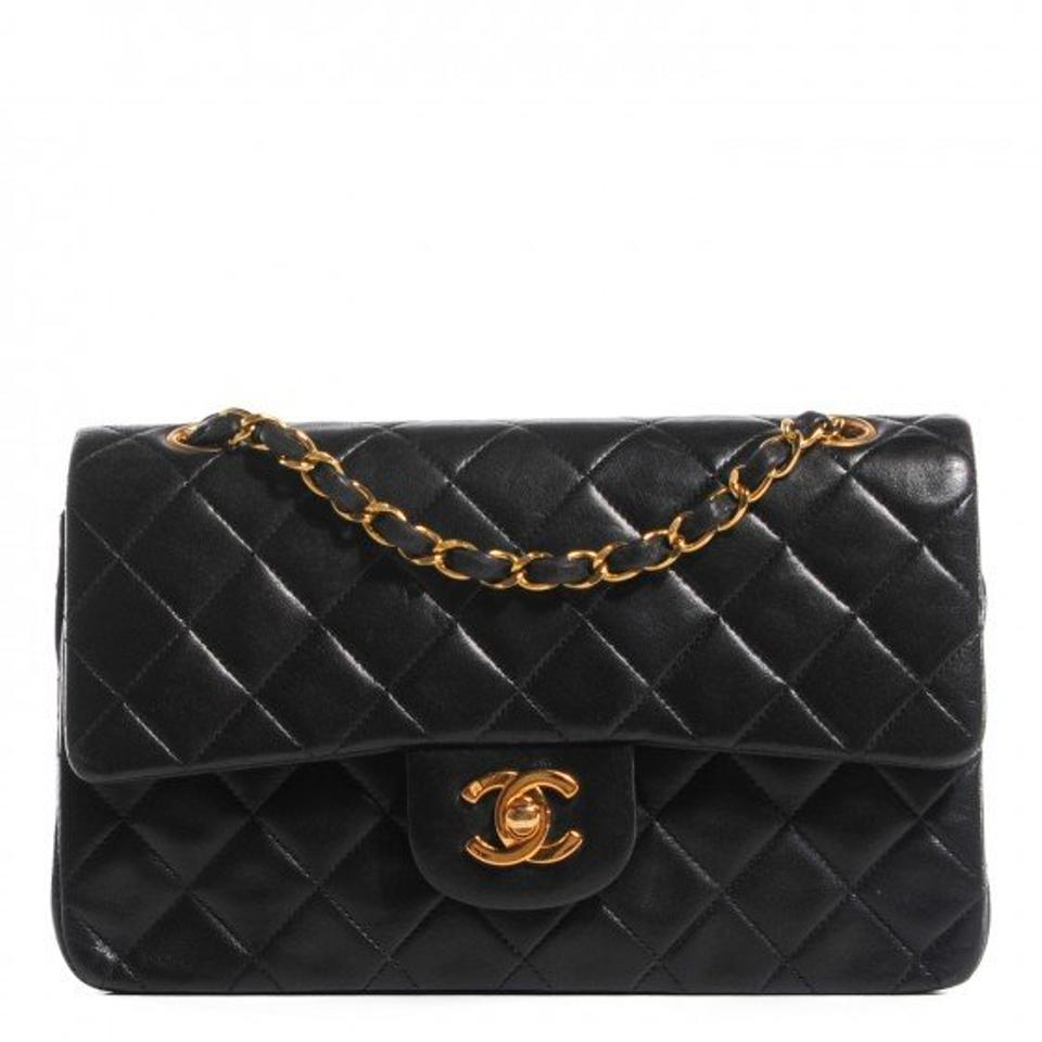 Chanel Black Lambskin Leather Classic Flap Shoulder Bag - Tradesy : chanel quilted small bag - Adamdwight.com