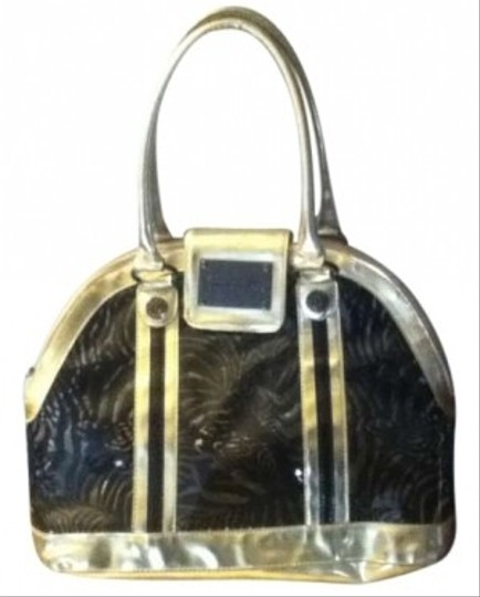 Betsey Johnson Gold/Black Travel Bag