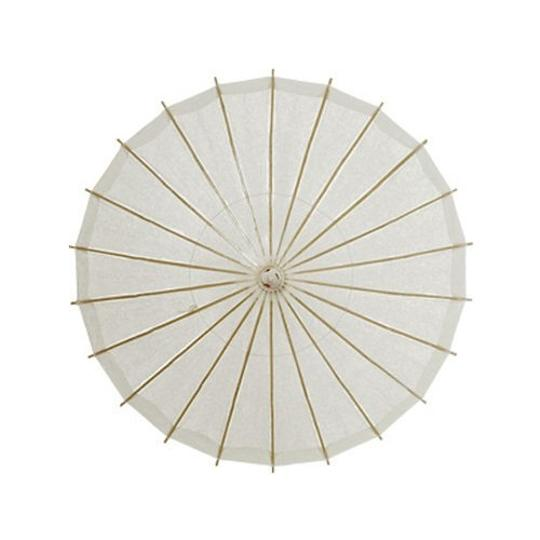Beaucoup White and Pink Umbrellas / Paper Parasol