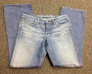 Juicy Couture The Cali Blue Flat Front Pocket Sma 856 Boot Cut Jeans