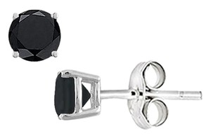 LoveBrightJewelry Black Onyx Stud Earrings in Sterling Silver 2.00 CT TGW