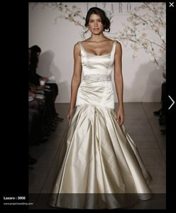 Lazaro Antique Wedding Dress Size 4 S