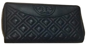 Tory Burch Navy Fleming leather Continental Wallet