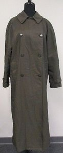 Giorgio Armani Green Thick Heavy Button Trench Trench Coat