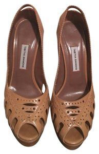Tabitha Simmons Tan Platforms
